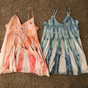 Tie-dyed tank tops